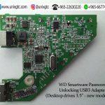 WD Smartware Password Unlocking PCB